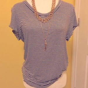 Navy stripped H&M short sleeve top size large